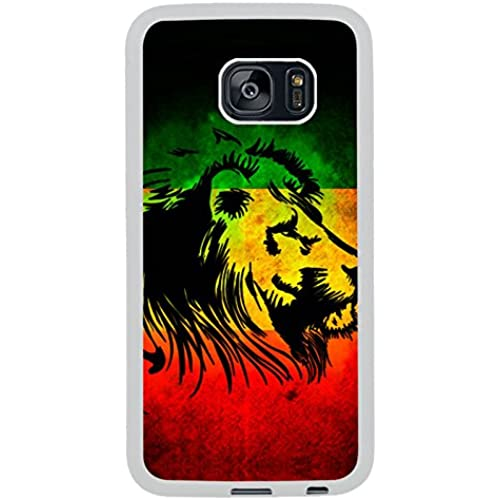 Samsung S7 Edge Case, rasta lion White Rubber Case for Samsung S7 Galaxy Edge,S7 Edge Case,Galaxy S7 Edge Cover Sales