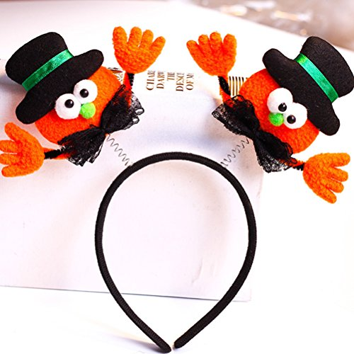 Party Headband Supplies Band Kids Hair Favors YeahiBaby 3PCS Costume with Halloween Boppers Luminous Owgzqx4