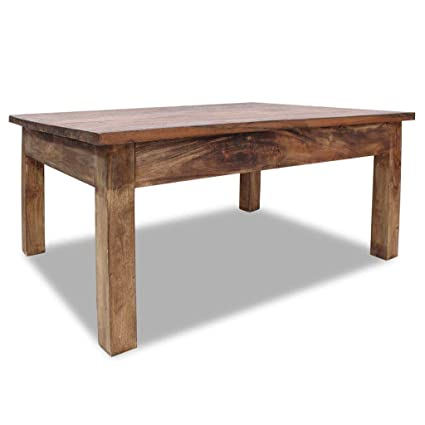 Amazoncom Handmade Solid Reclaimed Wood Coffee Table Colonial