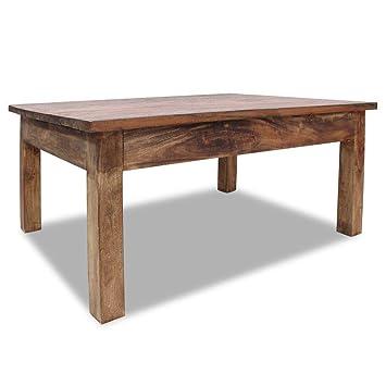 Amazon.com: Mesa de café de madera maciza reciclada hecha a ...