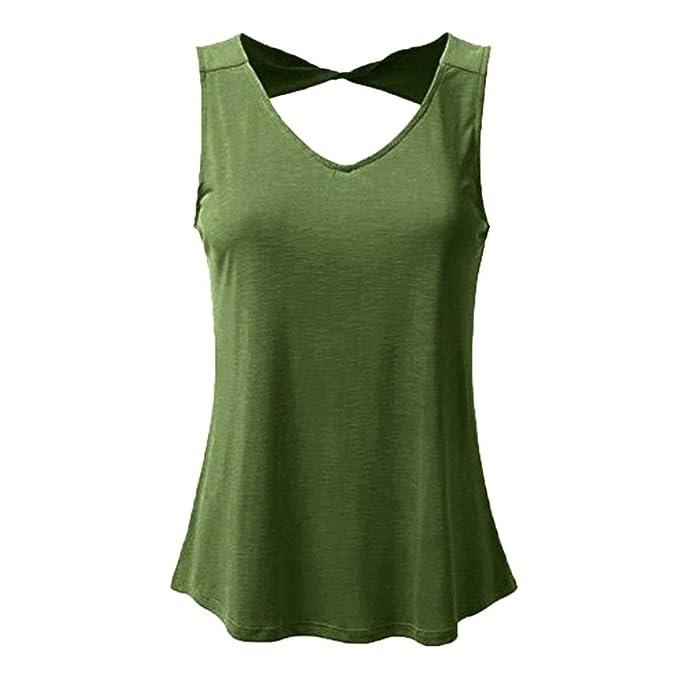Chaleco Mujer Sexy, Covermason Chaleco de Tallas Grandes para Mujer(38,Army Verde