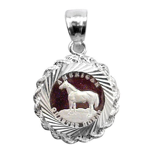 (Kelly Herd Quarter Horse Pendant)