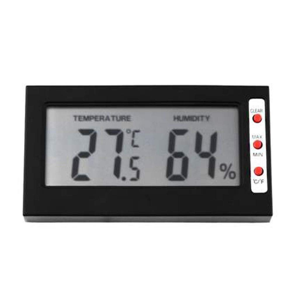 MSNDD Digital LCD Display Indoor Thermometer Hygrometer Mini Electronic Temperature Humidity Meter Weather Station Tester