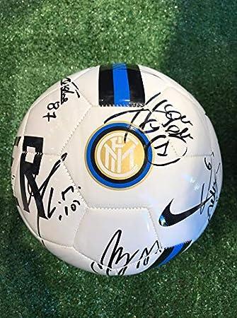 Balón autografiado del FC Inter, marca Nike, color blanco ...