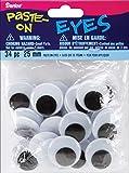 Paste On Wiggle Eyes Round 25 mm Black (12 Pack)