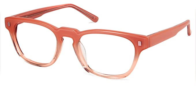 9d9b8a577b5 Image Unavailable. Image not available for. Color  Cynthia Rowley No. 49  Fade Blush Square Plastic Eyeglasses