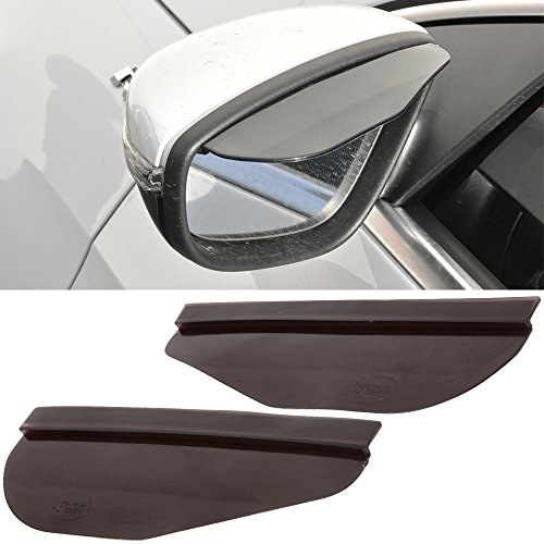 FREE MOTOR802 Window Visor Fits Universal Vehicles Fashionable Smoke Rain Proof Eyebrow Cover Truck Auto Rear View Side Mirror (Smoke Universal Fit)