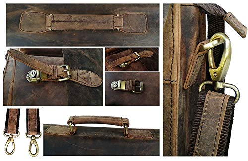 Cuero Retro Buffalo Hunter Leather Laptop Messenger Bag Office Briefcase College Bag (18 inch) by cuero (Image #5)