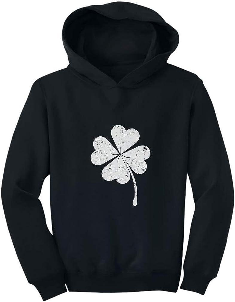 Patricks Day Cute Faded Clover Toddler Hoodie Irish Shamrock St TeeStars