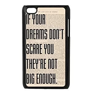 Danny Store Protective Hard PC Cover Case for iPod Touch 4, 4G (4th Generation), Inspirational Quote