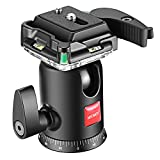 Neewer Camera Video Tripod Ball Head 360 Degree Rotating Panoramic Ballhead with 1/4 inch Quick Shoe Plate and Bubble Level for Tripod Monopod DSLR Camera Camcorder, Load up to 11 pounds/5 kilograms Reviews