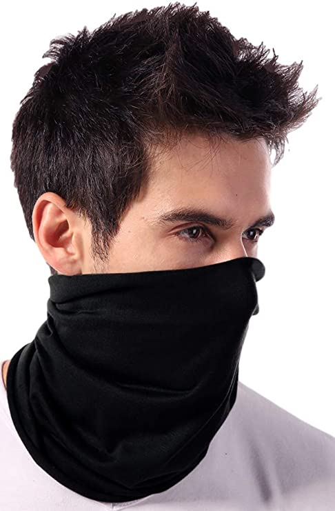Neck Gaiter Face Mask, Cover & Shield - UV Fishing Bandana Scarf Covering