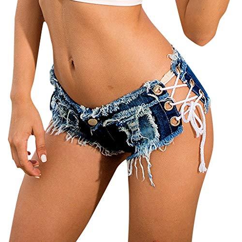 CCatyam Short Jeans for Women, Pants Trousers Mini Shorts Denim Button Pockets -