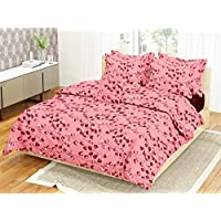 Softon 100% Cotton Double Bedsheet with 2 Pillow Cover Flower Print Designs