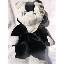 "Black and White CAT 16"" Child's Stuffed Animal Purse"