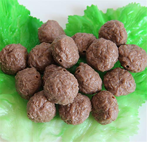 (Skyseen 12Pcs Artificial Beef Meatballs Fake Meat Food Model for Kitchen Toy Home Party Decoration Food Sample Display Prop )