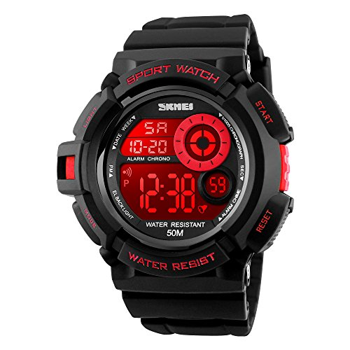 Led Watch Red Light in US - 3