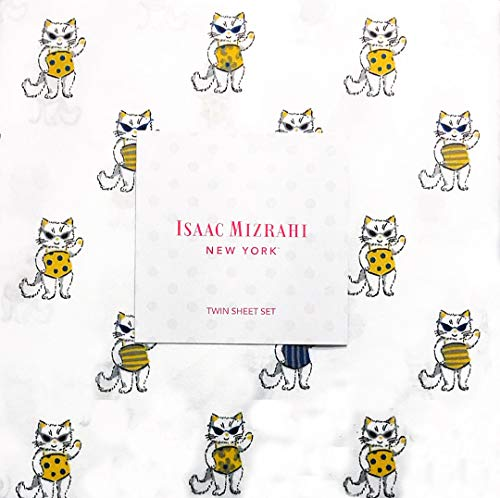 (Adorable Cats at The Beach in Swim Suits 3-pc. Twin Sheet Set for Girls by Isaac Mizrahi   100% Easy Care Microfiber )