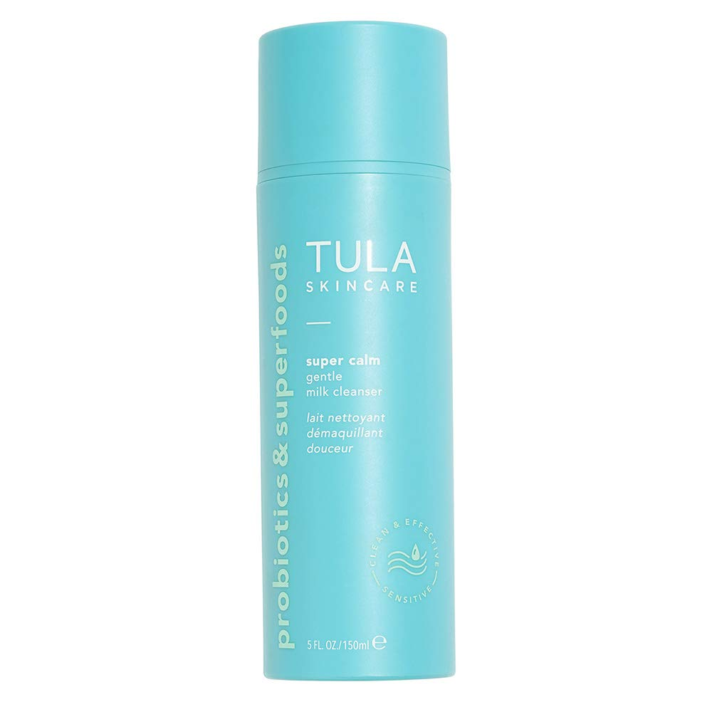 TULA Probiotic Skin Care Super Calm Gentle Milk Cleanser | Nourishing and Calming for Sensitive Skin with Colloidal Oatmeal, Cucumber & Ginger | 5 fl. oz.