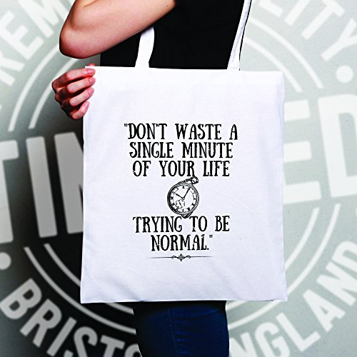 Waste White Bag One Being Life Don't White Size Your Normal Slogan Tote A8q5tx5Z