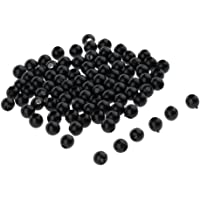 3-12mm Black Safety Eyes for Bear Doll Animal Stuffed Toys DIY Sewing Craft, Pack of 100