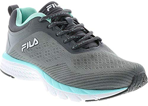 Fila Womens Memory Outreach Running Shoes 8.5 Grey/Turquoise Blue