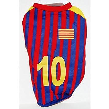 Camiseta de fútbol para perro bandera catalán Cataluña Barcelona 45 cm: Amazon.es: Productos para mascotas