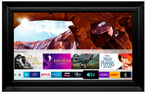 Framed Mirror TV with Samsung 8 Series 4K Ultra HD HDR Smart LED TV – Spoon Frame (55 inch, Black)