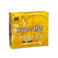 Moserbaer DVD-RW 4.7 GB in Jewel Case - Pack of 5