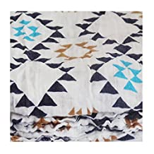 Soft and Versatile 100% Muslin Cotton Swaddle Blankets, Large, 47 x 47 (Tri-Square)