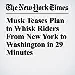 Musk Teases Plan to Whisk Riders From New York to Washington in 29 Minutes | Christine Hauser