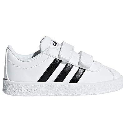 adidas VL Court 2.0 CMF I, Zapatillas de Gimnasia Unisex bebé, Blanco Core Black