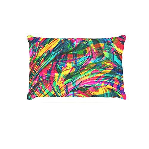 Kess InHouse Danny Ivan Wild Abstract  Rainbow Illustration Fleece Dog Bed, 30 by 40