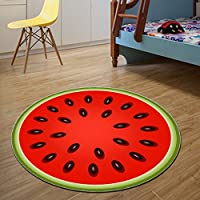 YOUSA Home Decor Comfortable Rugs and Carpets Watermelon Fruit For Bed Room (47.2Diameter,02)