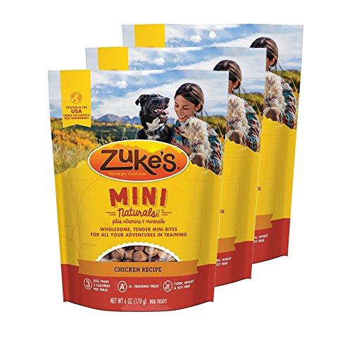 Zuke's Mini Naturals Dog Treats Chicken Recipe 6 oz 3 Pack