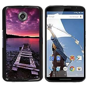 Be Good Phone Accessory // Dura Cáscara cubierta Protectora Caso Carcasa Funda de Protección para Motorola NEXUS 6 / X / Moto X Pro // Nature Pink Dock Sea