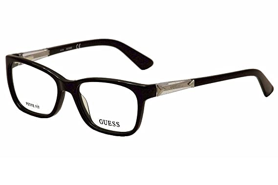 8f54c27a9800 Guess Eyeglasses GU2561 GU 2561 001 Black Optical Frame 50mm (Petite Fit)