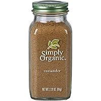 Simply Organic Simply Organic Coriander Ground Large Glass 65g, 65 g