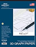 Office Products : Pro Art Isometric Pad, 8.5 x 11""
