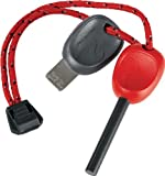 Light My Fire Swedish FireSteel 2.0 Scout 3,000 Strike Fire Starter with Emergency Whistle - Red