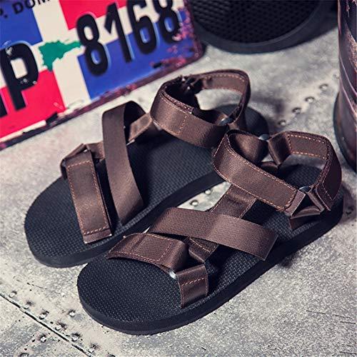 Hombres EU 40 Sandalias 3 Zapatos Color Marrón 2 para Casuales De Wangcui De tamaño Antideslizantes Verano Playa Marrón azwOqHxnq