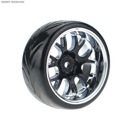 Hobbymarking 4Pcs RC 1//10 Drift Car 12mm Tires Hard Tyre and Wheel for Traxxas HSP Tamiya HPI Kyosho On-Road Drifting Car