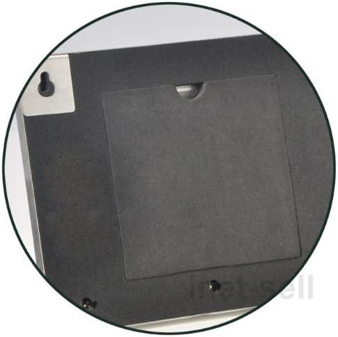 Zeller 13885 Barra Portachiavi con Cornice per Foto Stainless Steel 29x3.8x13 cm Argento legno