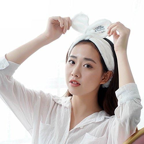 ea92c0203 HaloVa Headbands, Elastic Cross Head Wrap Hair Bands Headwear Turban Hair  Accessories for Women and Girl, Lovely Rabbit Ears, Fashion, White