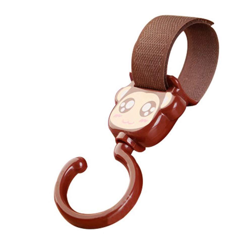 Xeminor 2pcs Practical Buggy Clips Universal Cute Cartoon Stroller Hooks Clip