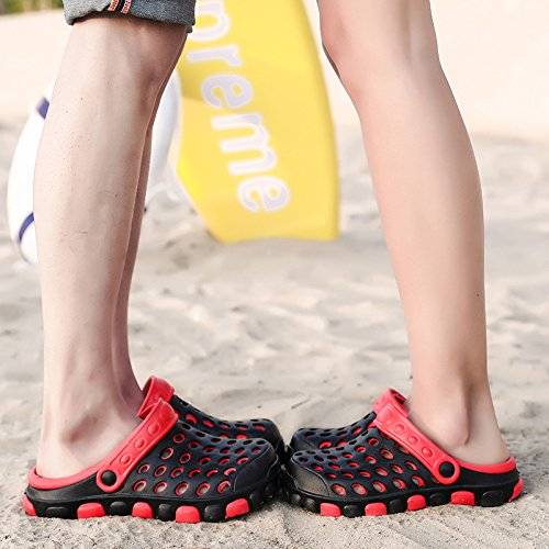 zapatos de negro parejas verano verano playa zapatos sandalias de Agujero para 43 de nido de la antideslizantes de cool ideal agujero pájaro Zapatillas antideslizante hembra wgIqB8