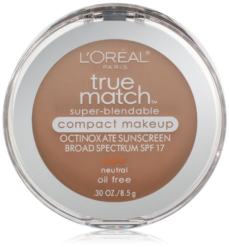 L'Oréal Paris True Match Super-Blendable Compact Makeup, N4 Buff Beige, 0.3 oz.