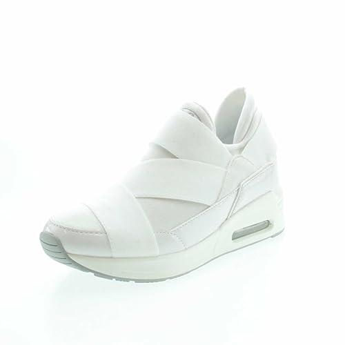 Buffalo 100-30 003 - Zapatillas de estar por casa de tela para mujer, color blanco, talla 37: Amazon.es: Zapatos y complementos