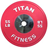 Single Titan Color Elite Olympic Bumper Plate – 55 LB