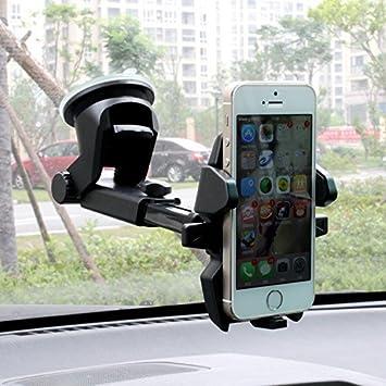Alierkin Soportes para Coches Soporte Universal de Telefono Movil con Ventosa Pegada en Parabrisas o Salpicadero